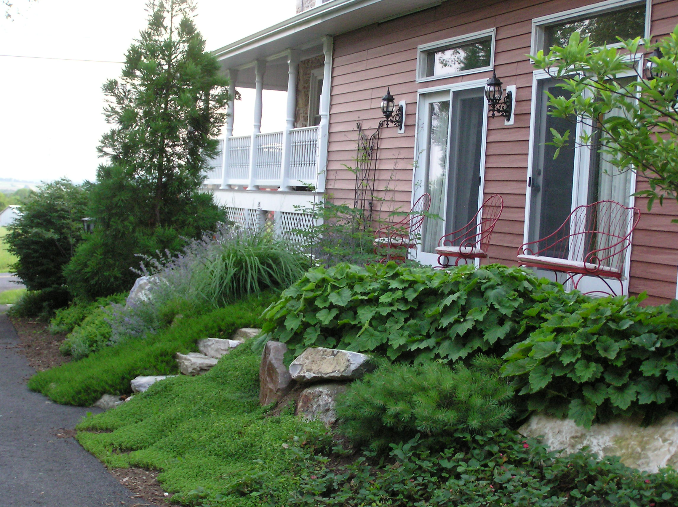 Zionsville, PA Lehigh County, Bank planting, Natural Stone Steps